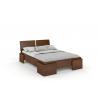 Vysoká borovicová posteľ ARGENTO morenie orech