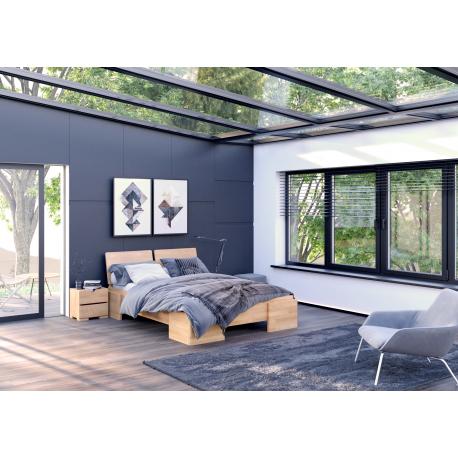 Vysoká buková posteľ ARGENTO