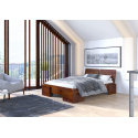 Borovicová vysoká posteľ ARGENTO S úložným priestorom