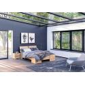 Buková vysoká posteľ ARGENTO s úložným priestorom