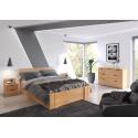 Vysoká buková posteľ ARHUS s úložným priestorom