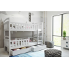 Detská poschodová posteľ WOX 5 biela