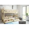 Detská poschodová posteľ WOX 5 prírodná