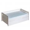 Detská posteľ BORYS jednolôžko s priestrannou zásuvkou a prístelkou