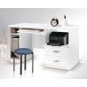PC stolík MAX so zásuvkami biela