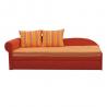 Rozkladacia pohovka AGA D - ľavé prevedenie, oranžová+pásikavý vzor
