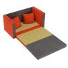 Rozkladacia pohovka KATARINA - alova sivá/oranžová + vankúše
