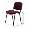 Kancelárska stolička ISO NEW bordová rozmery