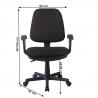 Kancelárska stolička Colby new rozmery