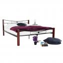 Manželská posteľ s kovovým čelom PAULA