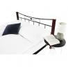 Manželské posteľ s kovovým čelom PAULA