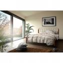 Manželská posteľ striebornej farby MIRELA