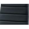 Stolička z kovového materiálu čierna