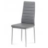 Stolička z kovového materiálu sivá