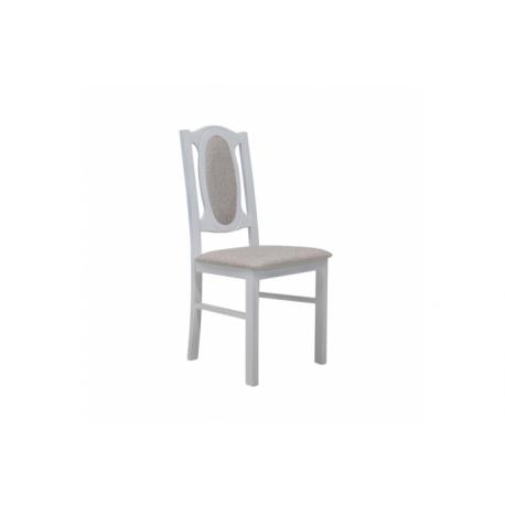 Čalúnená stolička - morenie biele, látka Olimp 21820