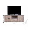 TV stolík s úložným priestorom
