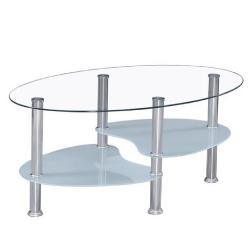 Sklenený stolík Wave s úložným priestorom