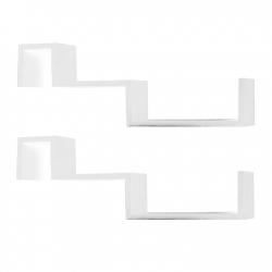 Sada dvoch nástenných políc - biela