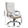 Biele kancelárske kreslo
