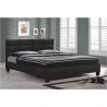 Čalúnená manželská posteľ - čierna