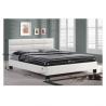 Čalúnená manželská posteľ - biela