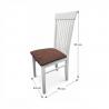 Jedálenská stolička Astro - biela/hnedá látka