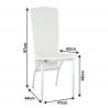 Jedálenská stolička - biela, rozmery