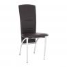 Jedálenská stolička - hnedá