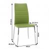 Jedálenská stolička Dela - zelená, rozmery