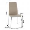 Jedálenská stolička Dela - hnedá, rozmery