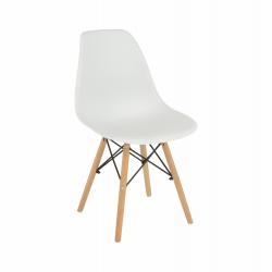 Jedálenská stolička Cinkla - biela/buk