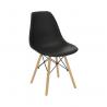Jedálenská stolička Cinkla - čierna/buk