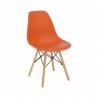 Jedálenská stolička Cinkla - oranžová/buk