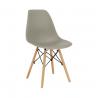 Jedálenská stolička Cinkla - teplá sivá/buk