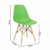 Jedálenská stolička Cinkla - zelená, rozmery