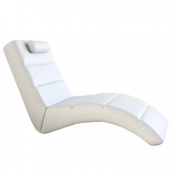 Relaxačné kreslo Long biele