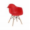 Plastové kreslo Damen - červená