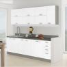 Kuchynská zostava Prado - biela extra vysoký lesk/sivá