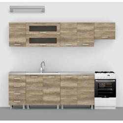 Moderná kuchynská zostava - dub canyon