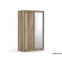 Skriňa s posuvnými dverami a zrkadlom