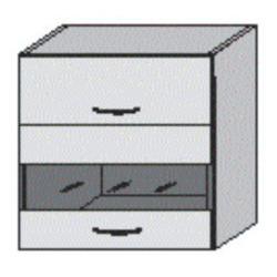 Dvojdverová závesná skrinka