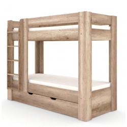 Poschodová posteľ REA PIKACHU - ľavá, dub canyon
