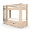 Poschodová posteľ REA PIKACHU - ľavá, dub bardolino