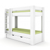 Poschodová posteľ REA PIKACHU - ľavá, biela
