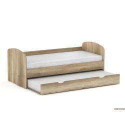Detská rozkladacia posteľ - dub canyon