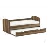 Detská rozkladacia posteľ - orech rockpile