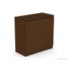 Výklopná skrinka s úložným priestorom - wenge