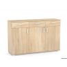 Trojdverová komoda s tromi zásuvkami - dub bardolino