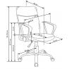 Kancelárska stolička - rozmery