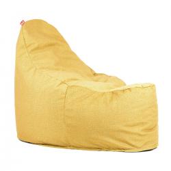Super kreslo na sedenie v mäkkom snímateľnom poťahu - Soft Yellow